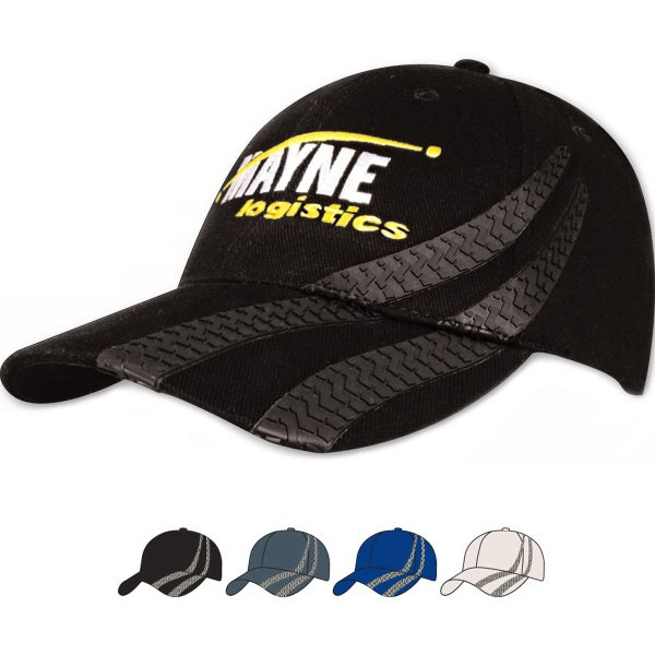 4015 Brushed Heavy Cotton Cap with Tire Tracks
