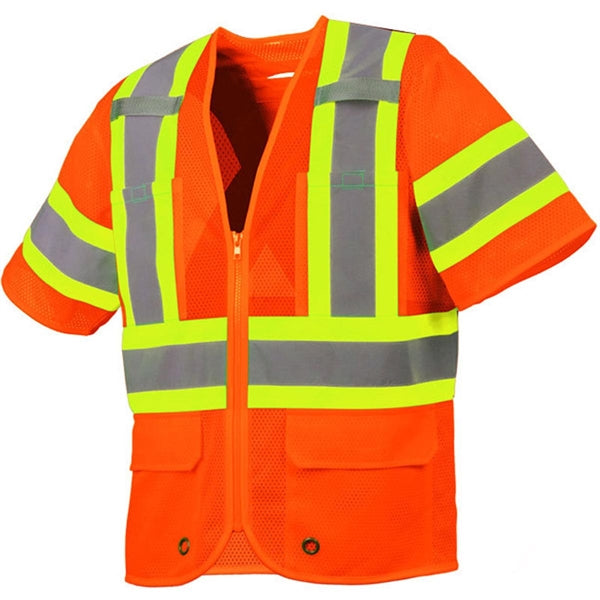 Contractor/Surveyor Vest with Sleeves and Four Pockets