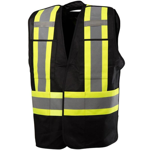 59L61502 - Five Point Tear-Away Safety Vest with Four Pockets