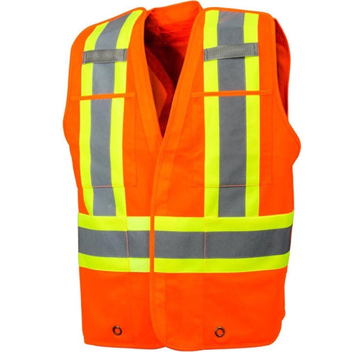 Five Point Tear-Away Safety Vest with Four Pockets