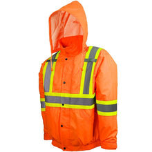HI-VIS Traffic Jacket with Detachable Hood
