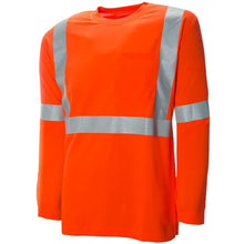 "Long Sleeve Traffic T-Shirt with 2"" Reflective Silver Tape"