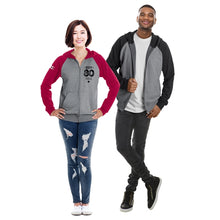 ethica Unisex hooded full zip & raglan sleeve sweater #558