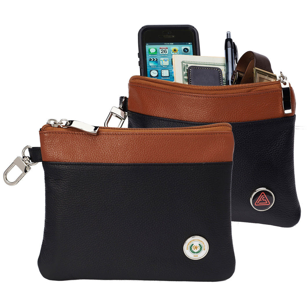 Mesa Leather Zipper Valuables
