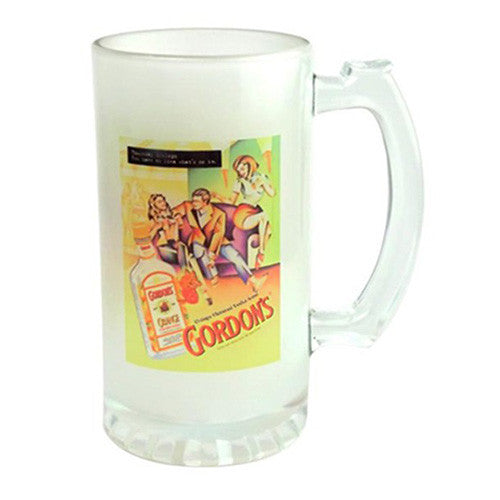16 oz Foto Frosted Glass Stein