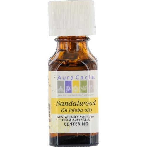 Essential Oils Aura Cacia Sandalwood In Jojoba Oil .5 Oz By Aura Cacia
