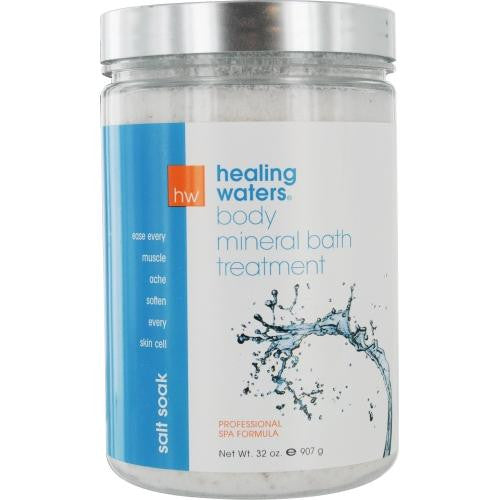 Healing Waters Salt Soak - Mineral Bath Treatment 32 Oz By Aromafloria