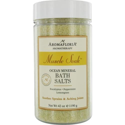 Muscle Soak Ocean Mineral Bath Salts 42 Oz Eucalyptus, Peppermint, And Lemongrass By Aromafloria