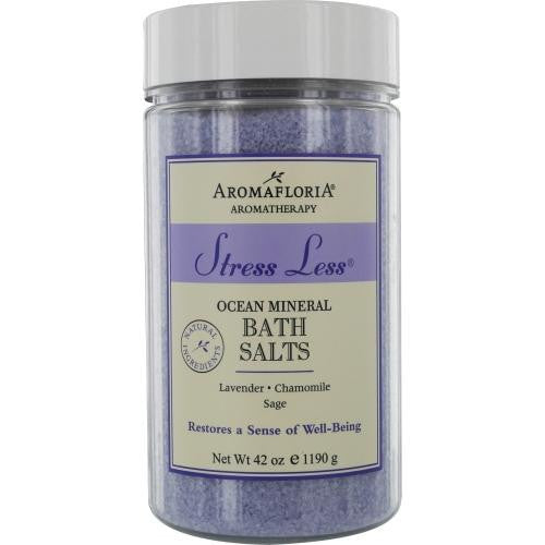 Stress Less Ocean Mineral Bath Salts 42 Oz Blend Of Lavender, Chamomile, And Sage By Aromafloria
