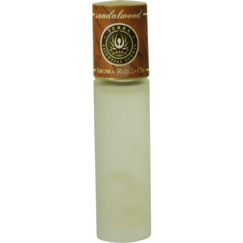 Essential Oils Terra Sandalwood Aroma Roll On - Essential Oils Of Sandalwood With Clear Quartz Gemstones In Jojoba Oil .33 Oz By Essential Oils Terra