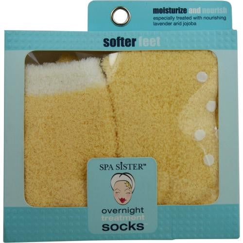 Spa Accessories Essential Moist Socks With Jojoba & Lavender Oils (yellow) By Spa Accessories