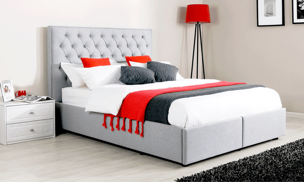 Olga King Bed Frame With 2 Drawers