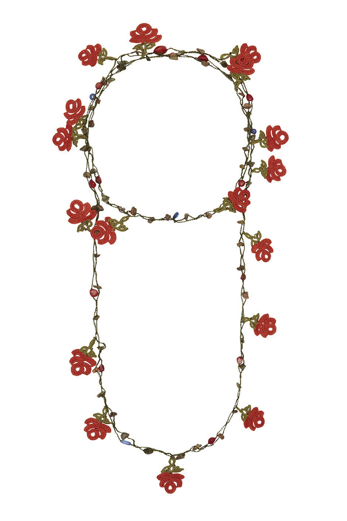 ROSE GARDEN WRAP NECKLACE