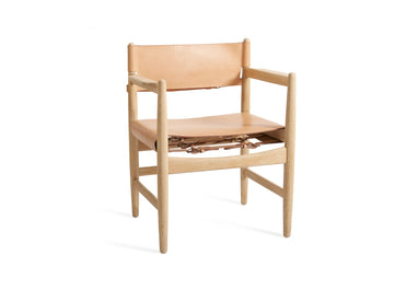Børge Mogensen, arm chair from 'Øresund-serien' in oak and harness leather