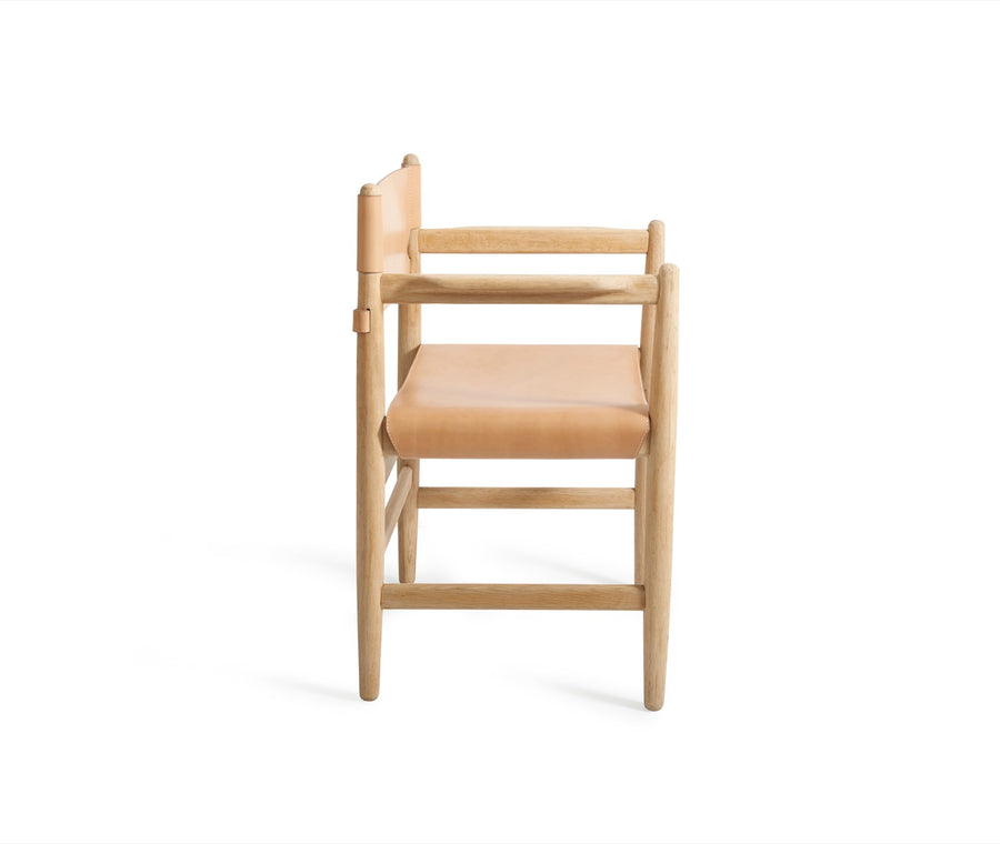 Chair by Børge Mogensen, 'Oresund-series' in oak and harness leather