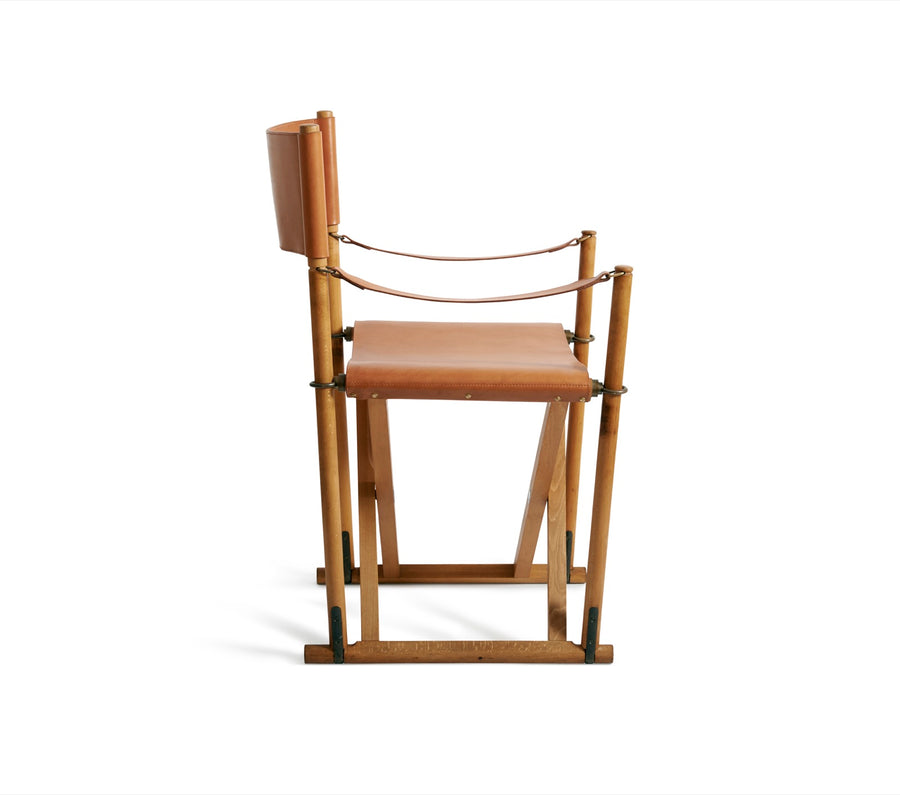 Mogens Koch, Folding Chair in oiled beech and harness leather
