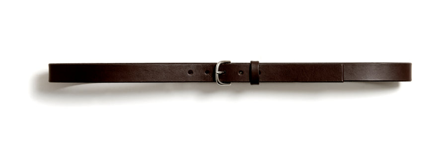 Leather belt: TRINE (dark brown)