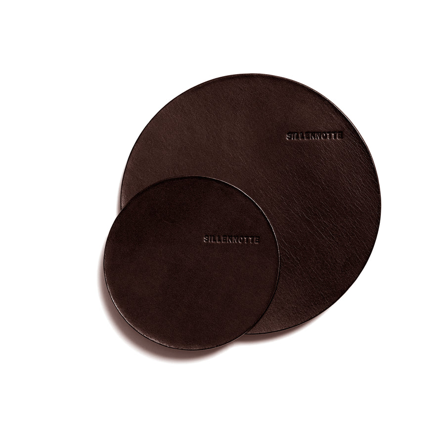 VINO small coaster (dark brown) - set of 4