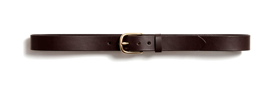 Leather belt: ALEXANDER (dark brown)