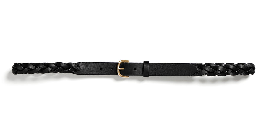 HELLE plaited belt (black)