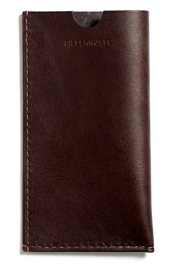 Leather iPhone cover: ANDY (dark brown)