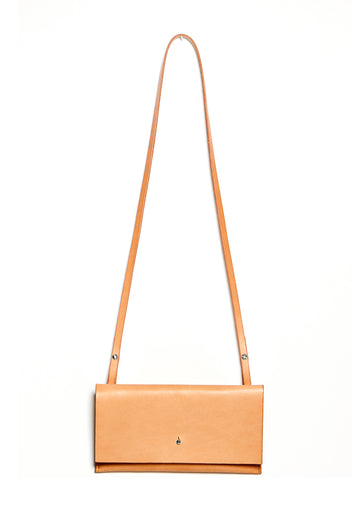 Leather clutch & shoulder bag: RIGMOR MINI (natural)