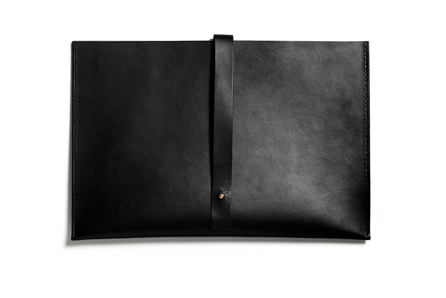 Leather computer sleeve: SIXTEN (black)