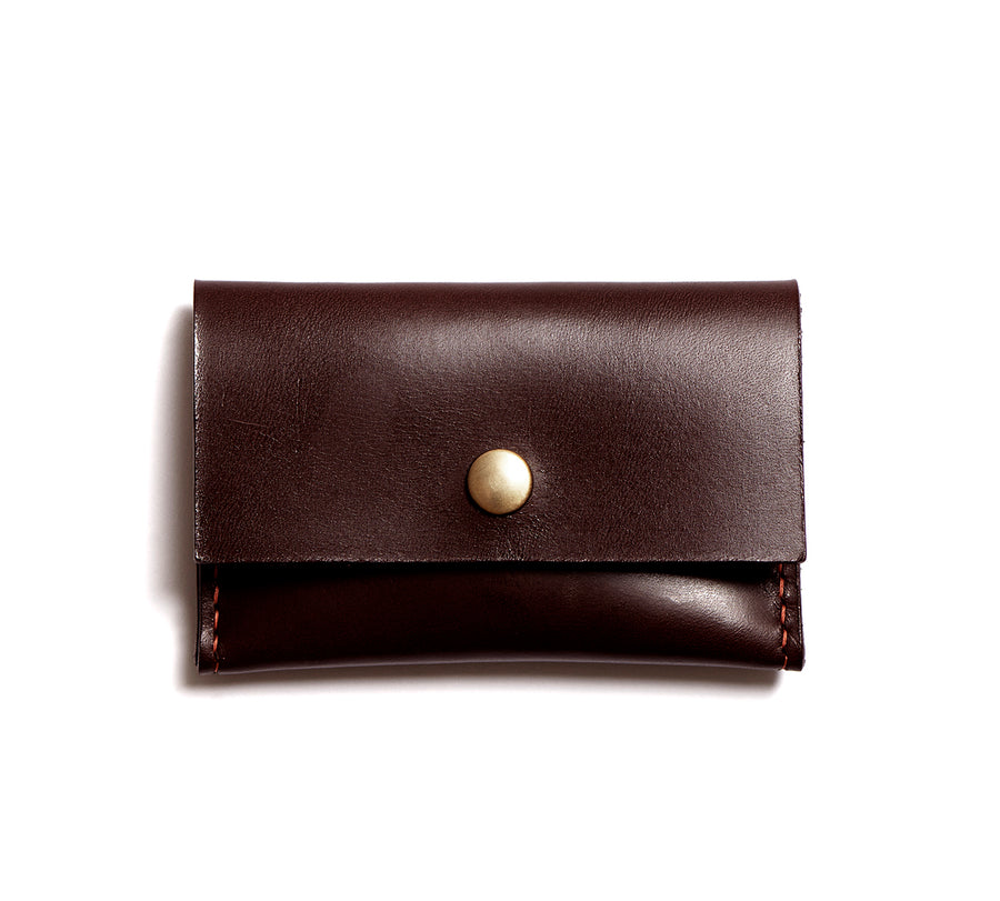 Leather wallet: GRANT (dark brown)