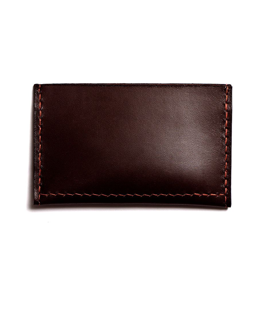 Leather cardholder: MICKEY (dark brown)