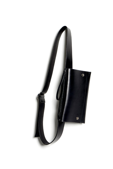 Leather bumbag: RIGMOR DOUBLE (black)