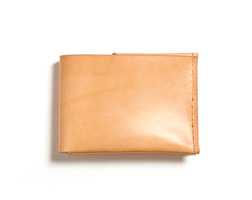 Leather bifold wallet: BECH (natural)