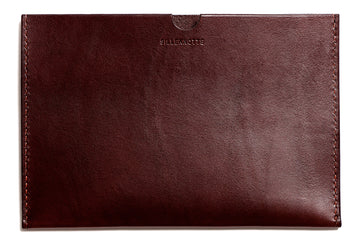 Leather iPad Mini sleeve: KRISTIAN (dark brown)
