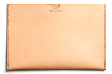 Leather iPad Mini sleeve: KRISTIAN (natural)