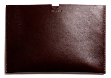 Leather iPad sleeve: FRED (dark brown)