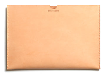 Leather iPad sleeve: FRED (natural)