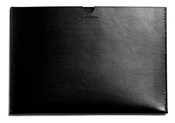 Leather iPad sleeve: FRED (black)