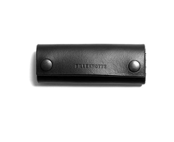 Leather key pouch: KARL small (black)