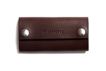 Leather key pouch: KARL (dark brown)