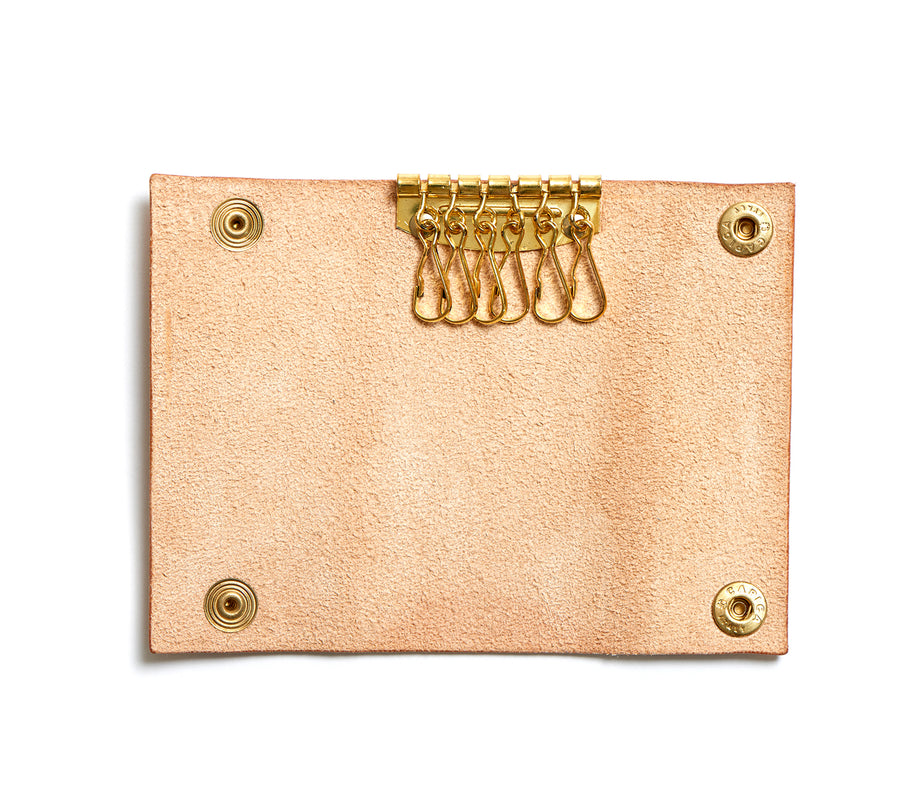 Leather key pouch: KARL (natural)