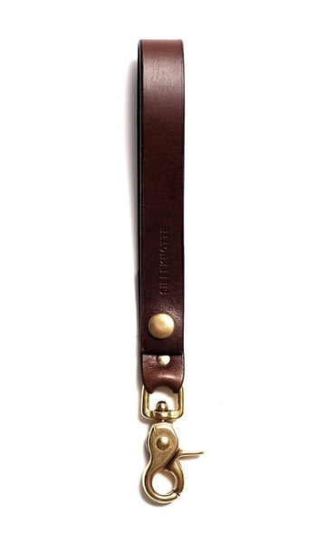 Leather keyring: CARLO medium (dark brown)