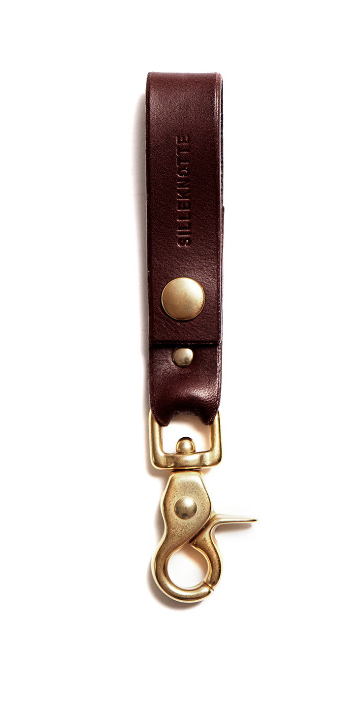 CARLO keyring - small (dark brown)