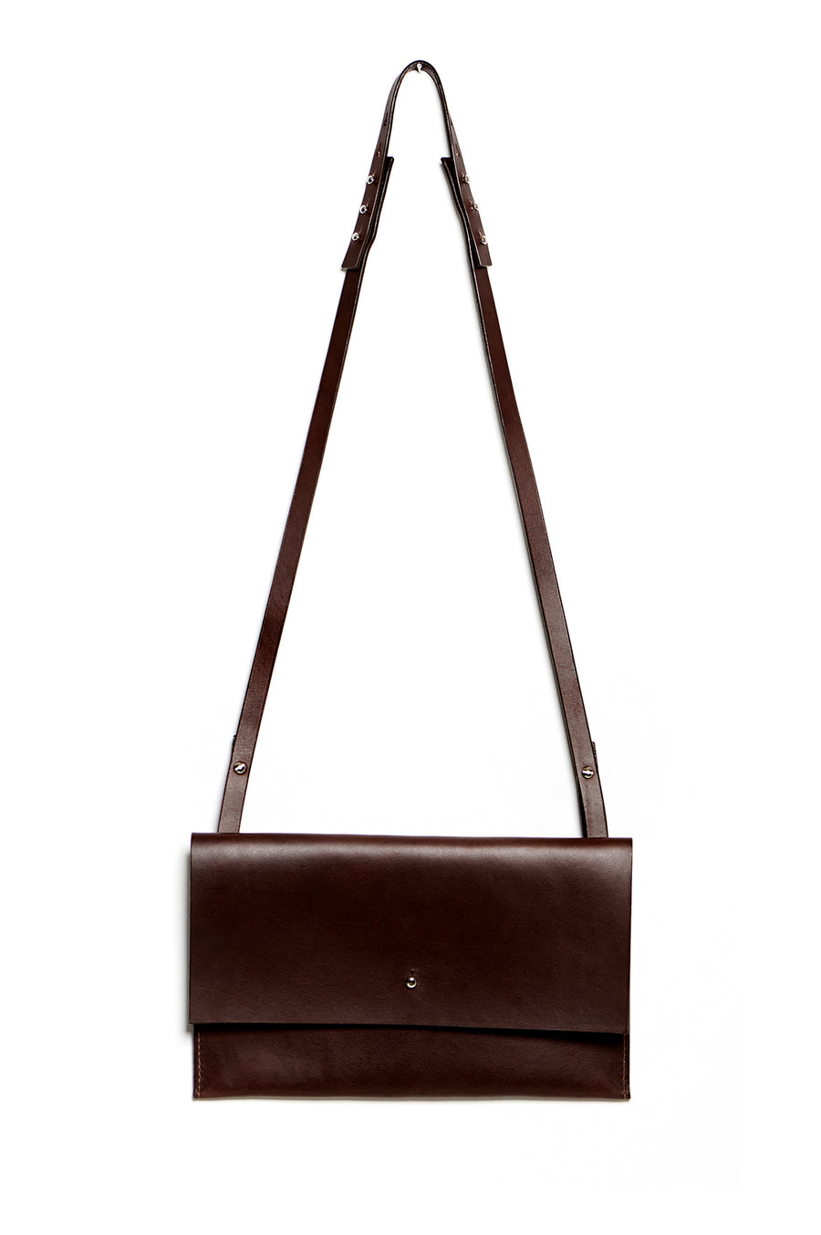 RIGMOR MEGA clutch & shoulder bag (dark brown)