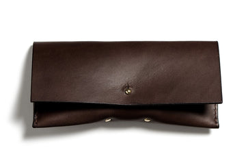 Leather glasses case: FELBY (dark brown)