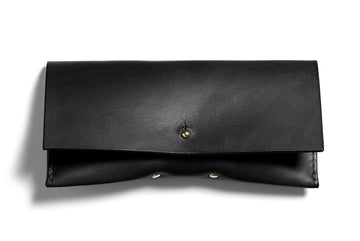 Leather glasses case: FELBY (black)