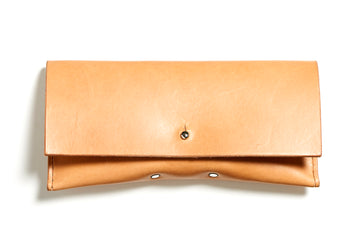 Leather glasses case: FELBY (natural)