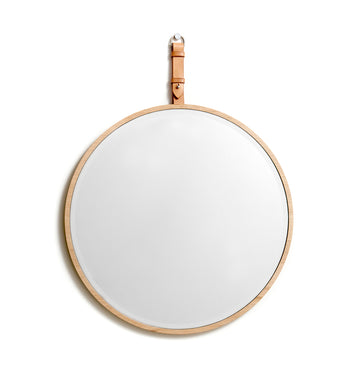 Wall mirror: EKKO round (natural)