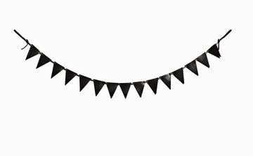 Leather bunting: FLAG (black)