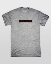 Feminist Red Bar T-Shirt in Grey