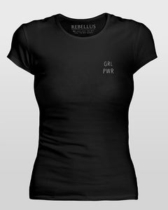 Grl Pwr T-Shirt Tight Version in Black