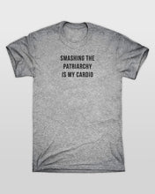 Smashing The Patriarchy Is My Cardio T-Shirt in Grey